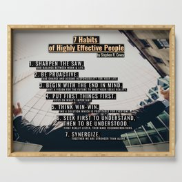 7 Habits of Highly Effective People Serving Tray