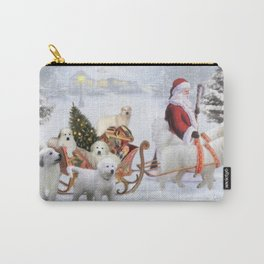 Great Pyrenes and Santa Carry-All Pouch