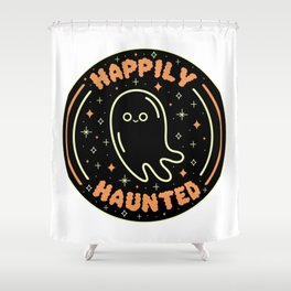 Happily Haunted Shower Curtain