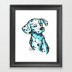 Brush Breeds-Dalmatian Framed Art Print