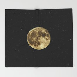 MOON - SKY - STARS - GALAXY - SPACE - PHOTOGRAPHY Throw Blanket