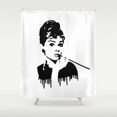 Audrey Hepburn Breakfast At Tiffany's Shower Curtain