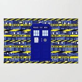 Tardis Yellow Line Rug