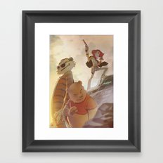 Cowboys, Tigers and Bears Framed Art Print