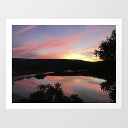 Summer Solstice Sunset Across The Big Eddy Art Print