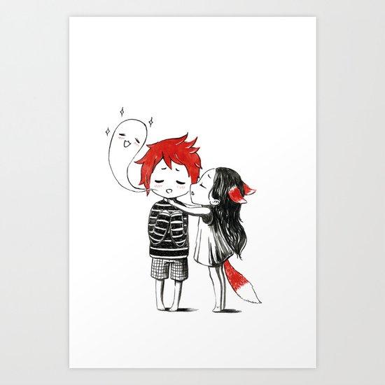 Boy and a Fox Art Print