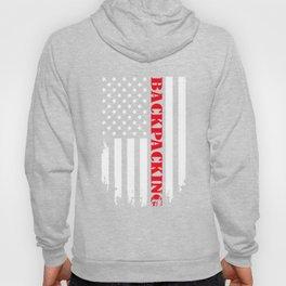 Patriotic Backpacking Player - Flag Hoody