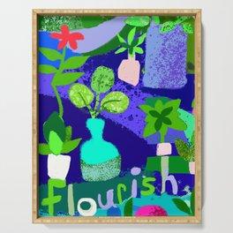 Flourishing Garden Serving Tray
