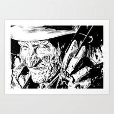 Freddy Krueger #2 Art Print