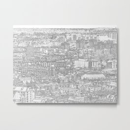 Leeds City Drawing Metal Print