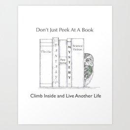 Climb Into A Book Art Print
