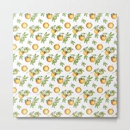 Orange Pattern 2 - Top Selling Design Metal Print
