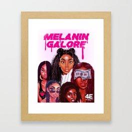 MELANIN GALORE Framed Art Print