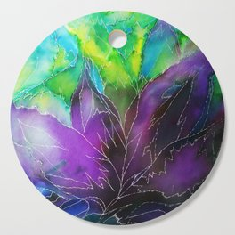 Purple Leaf Cutting Board