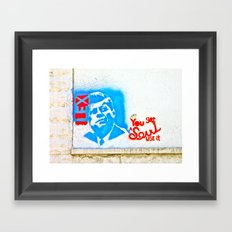 J.F.K. Street Art Framed Art Print