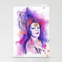 bowie Stationery Cards featuring Bowie by Kinko-White