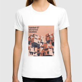 Habitat 67 retro poster T-shirt