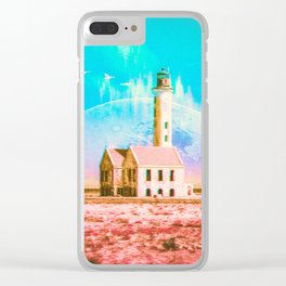 Cosmic Synchronicity Clear iPhone Case