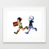 hunter x hunter Framed Art Prints featuring Hunter x Craft by Z-Serpentriss