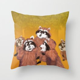 Raccoon Series: What's Going On? Throw Pillow
