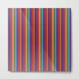 Ultra Bright Pattern Textured Lines Metal Print