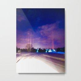 """""""Light Pillars"""" Metal Print"""