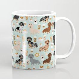 Dachshund coffee lover must have pet gifts dachsie doxie dog weener dog Coffee Mug