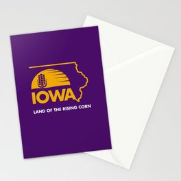 Iowa: Land of the Rising Corn - Purple and Gold Edition Stationery Cards