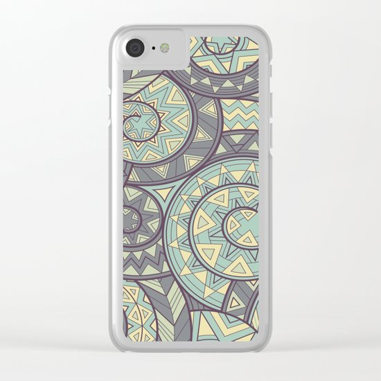 nagual. tribal seamless pattern Clear iPhone Case