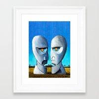 floyd Framed Art Prints featuring Floyd canvas by Raqueldraw