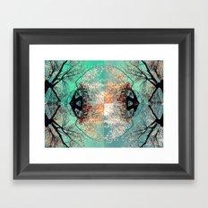 autumn tree - vessel pattern 2 Framed Art Print