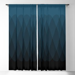 Blue to Black Ombre Signal Blackout Curtain