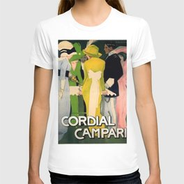 Vintage 1913 Cordial Campari Lithograph Alcoholic Advertisement by Marcello Dudovich T-shirt
