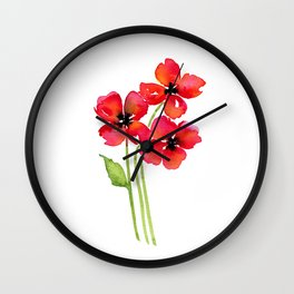 Ladies in Red Wall Clock
