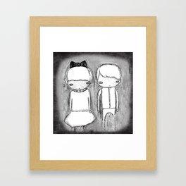 Indigo Twins Framed Art Print