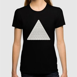 Lichtenberg-Mayer Colour Triangle with letters and numbers, Remake of Mayer's original illustration T-shirt