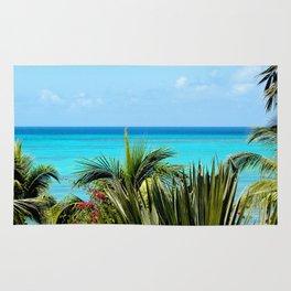 Wild Exotic Blue Paradise -Indian Ocean Seascape Rug