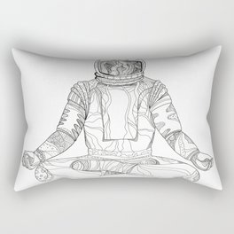 Astronaut Lotus Position Mandala Rectangular Pillow