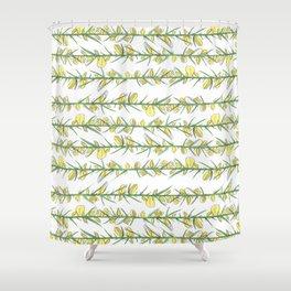 Manx flora - gorse Shower Curtain