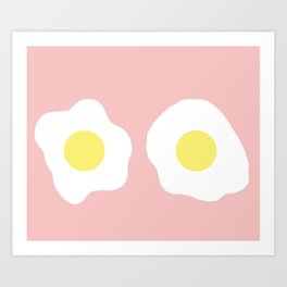 Eggy boobs Art Print