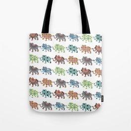 Elephant Walk Pattern Tote Bag