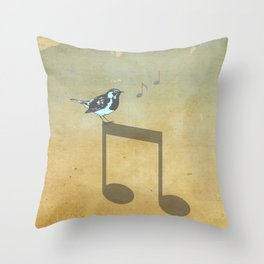 Please don't stop the music // Analog Zine Throw Pillow