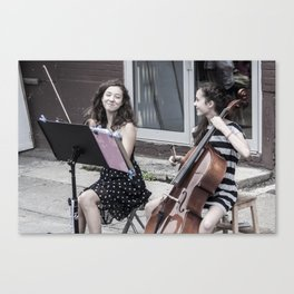 Street String Players Canvas Print