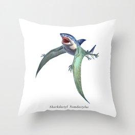 Sharkdactyl Nomdactylus Throw Pillow