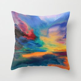 Rainbow Soiree Throw Pillow