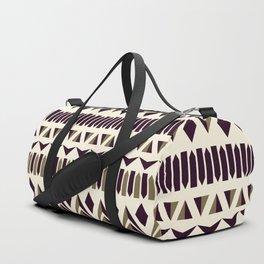 Tribal dance beige, gold and dark maroon Duffle Bag