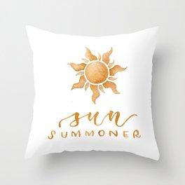 Sun Summoner Throw Pillow