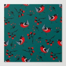 Bullfinch entering Winter Canvas Print