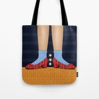 dorothy Tote Bags featuring Dorothy by Lucky Skye