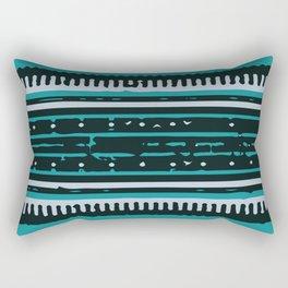 Turquoise Arabian Pattern Rectangular Pillow